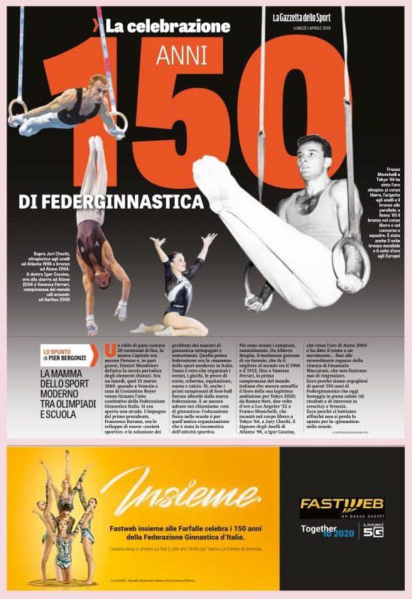 150 anni FEDERAZIONE GINNASTICA D'ITALIA