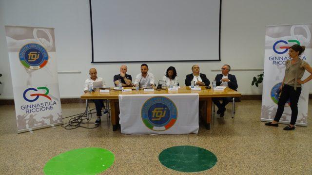 CONFERENZA STAMPA GINNASTICA RICCIONE FEDERAZIONE GINNASTICA D'ITALIA
