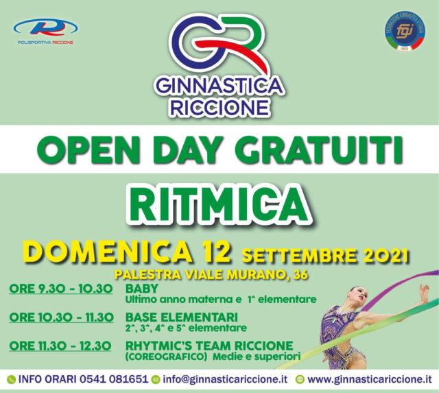 OPEN DAY RITMICA DOMENICA 12 SETTEMBRE