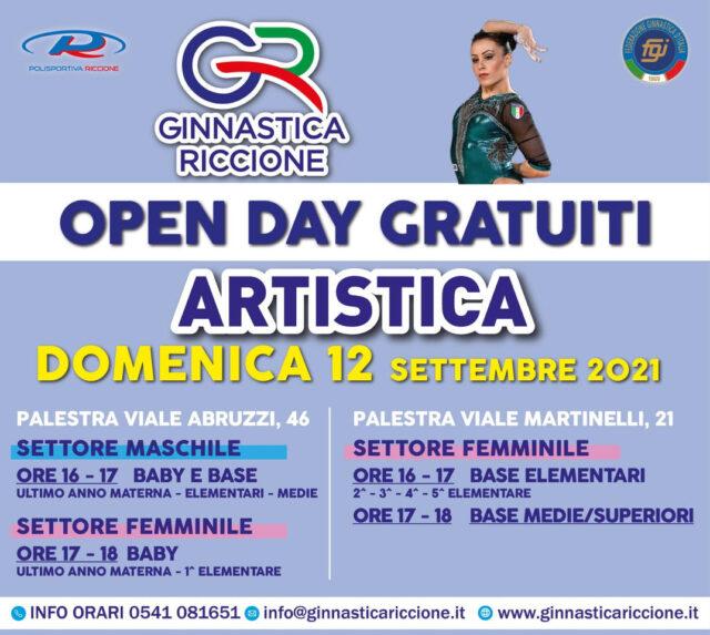 OPEN DAY ARTISTICA DOMENICA 12 SETTEMBRE