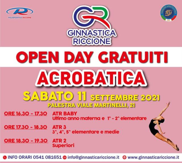 OPEN DAY ACROBATICA SABATO 11 SETTEMBRE